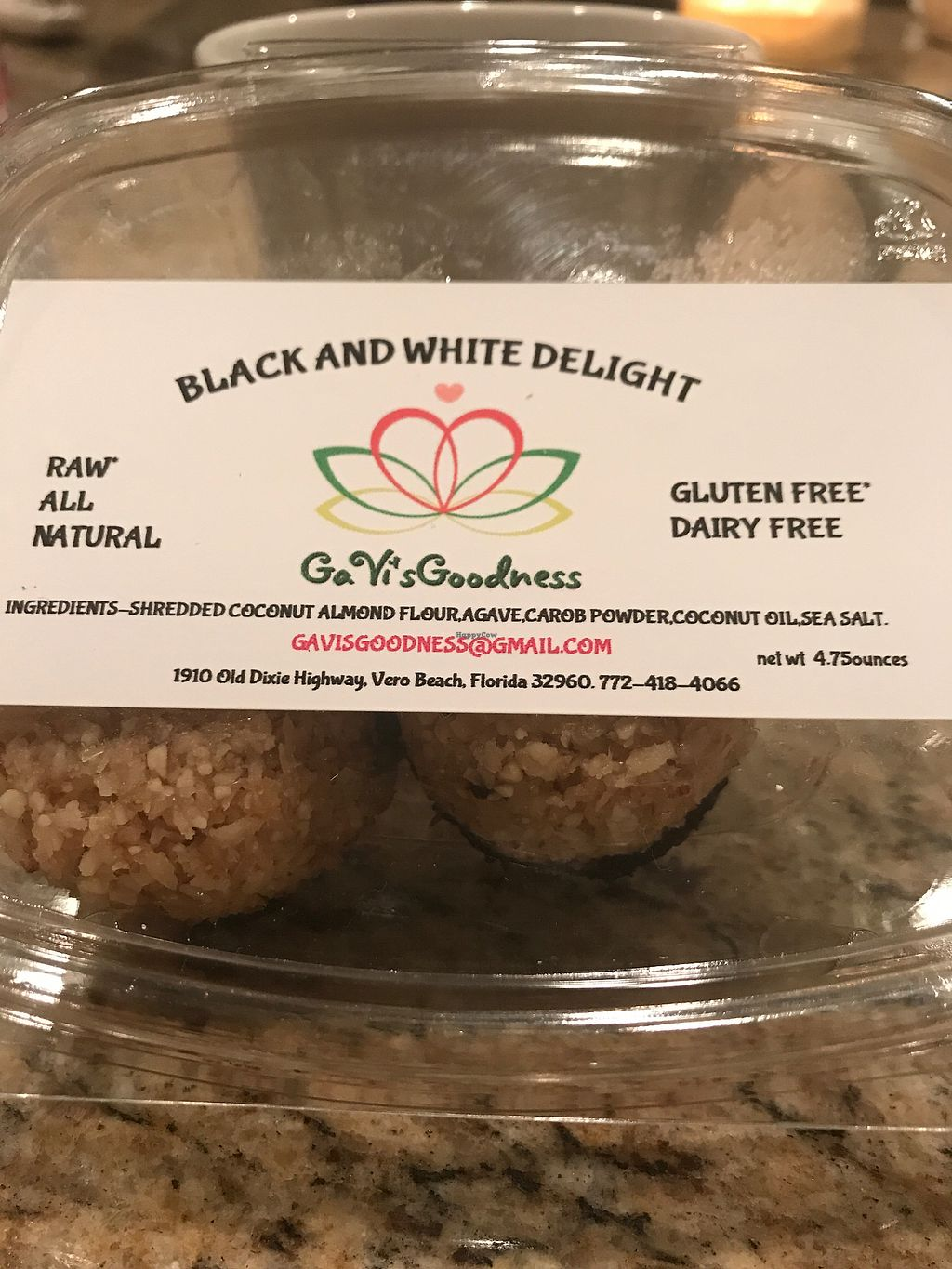 """Photo of Bowl Spot  by <a href=""""/members/profile/peggyp"""">peggyp</a> <br/>Dessert is delicious - try these vegan macaroons  <br/> December 11, 2017  - <a href='/contact/abuse/image/105610/334486'>Report</a>"""