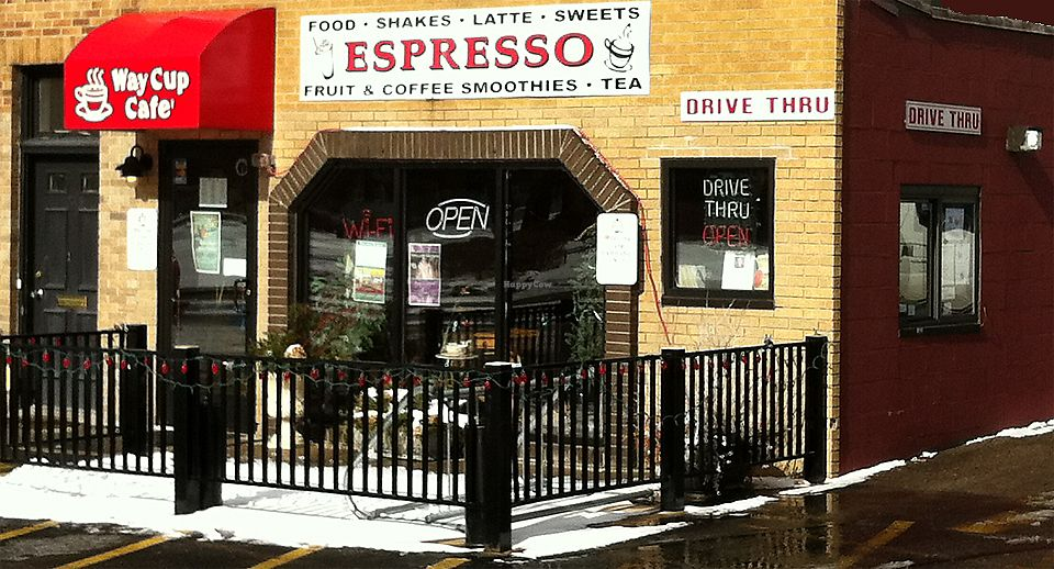 """Photo of Way Cup Cafe  by <a href=""""/members/profile/BeccaBochenek"""">BeccaBochenek</a> <br/>Cozy cafe with table and counter seating as well as outdoor seating on warmer West Michigan days. Drive thru.  <br/> November 23, 2017  - <a href='/contact/abuse/image/105649/328505'>Report</a>"""