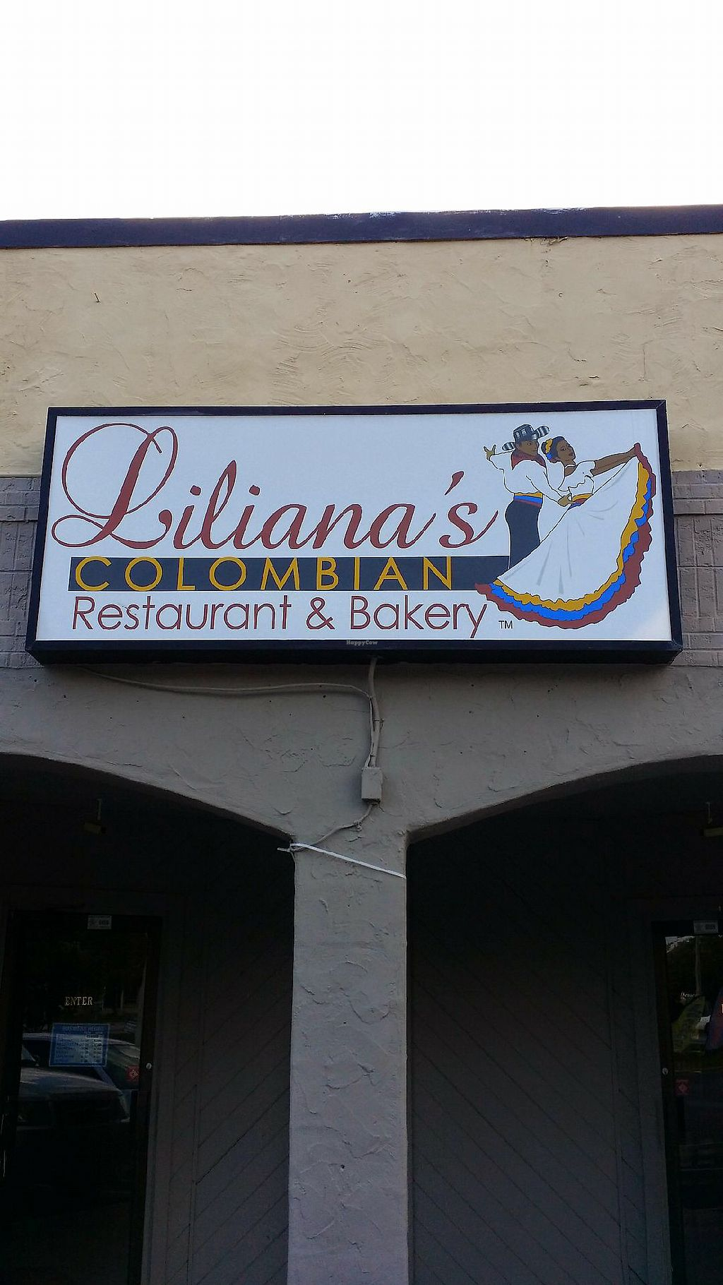 """Photo of Liliana's Colombian Restaurant & Bakery  by <a href=""""/members/profile/LiloVee"""">LiloVee</a> <br/>Front sign <br/> April 3, 2018  - <a href='/contact/abuse/image/105650/380390'>Report</a>"""