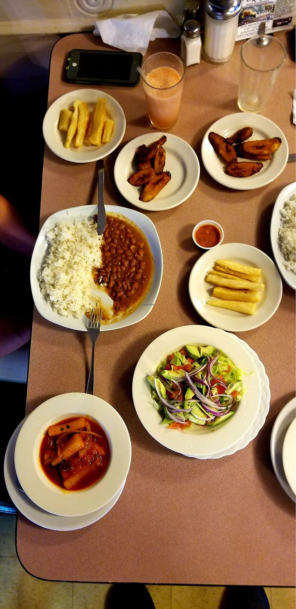 """Photo of Liliana's Colombian Restaurant & Bakery  by <a href=""""/members/profile/LiloVee"""">LiloVee</a> <br/>Most of their vegan options <br/> April 3, 2018  - <a href='/contact/abuse/image/105650/380392'>Report</a>"""