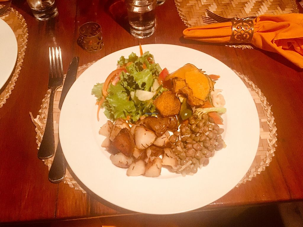 """Photo of Mac's Pizzeria  by <a href=""""/members/profile/veganmom"""">veganmom</a> <br/>Vegetarian Dinner <br/> November 22, 2017  - <a href='/contact/abuse/image/105671/328111'>Report</a>"""