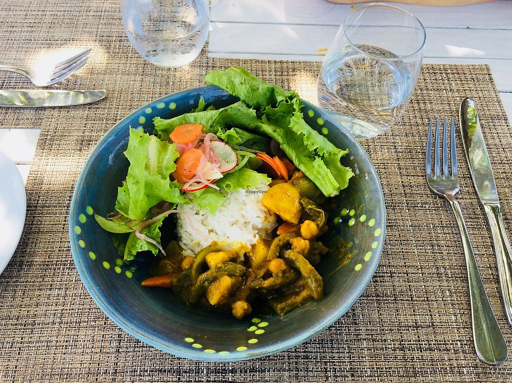 """Photo of Cotton House Beach Cafe  by <a href=""""/members/profile/veganmom"""">veganmom</a> <br/>West Indian Roti (without the bread to make it gluten-free) <br/> November 22, 2017  - <a href='/contact/abuse/image/105673/328122'>Report</a>"""