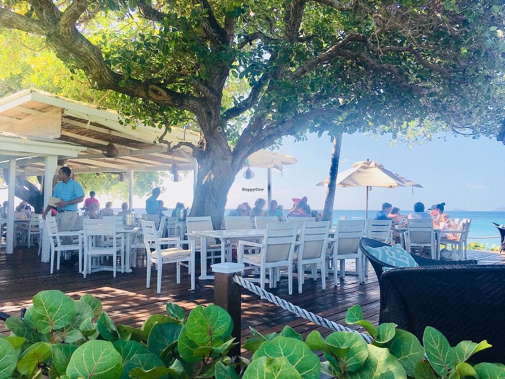 """Photo of Cotton House Beach Cafe  by <a href=""""/members/profile/veganmom"""">veganmom</a> <br/>Outdoor seating  <br/> November 22, 2017  - <a href='/contact/abuse/image/105673/328124'>Report</a>"""