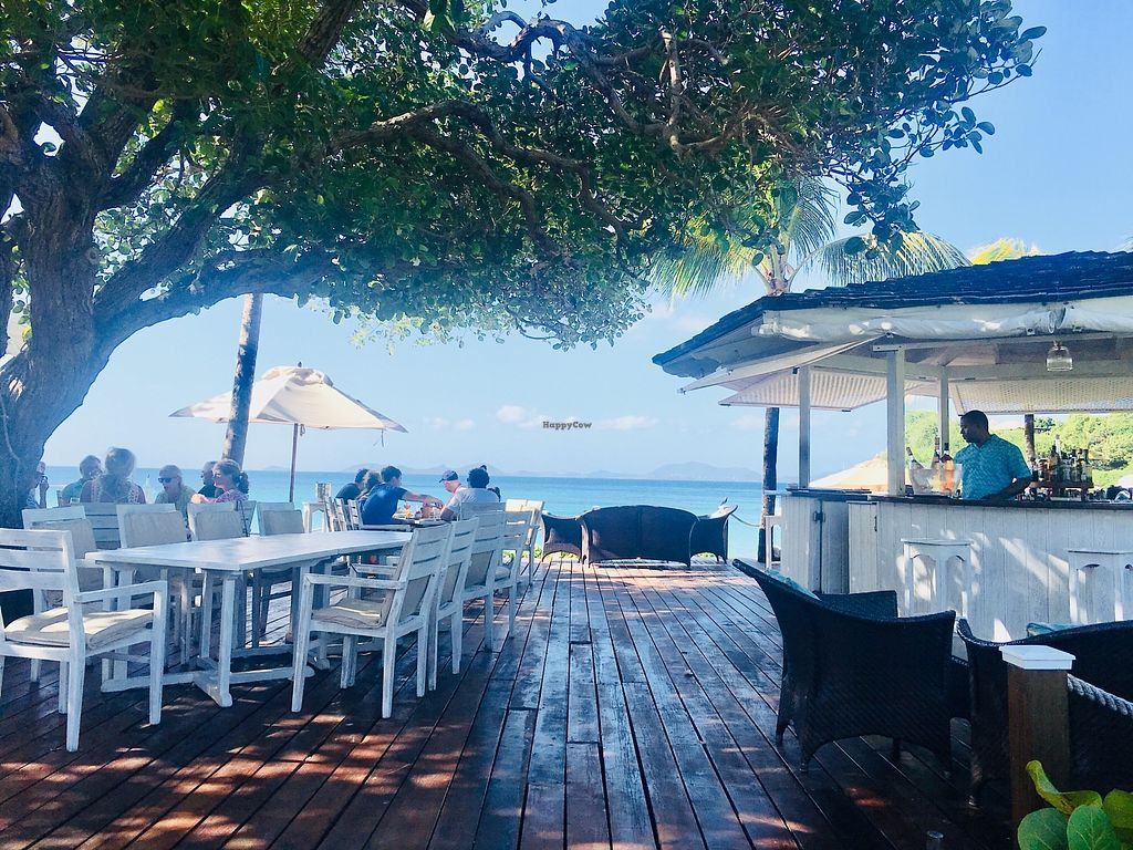 """Photo of Cotton House Beach Cafe  by <a href=""""/members/profile/veganmom"""">veganmom</a> <br/>Outdoor seating by the beach  <br/> November 22, 2017  - <a href='/contact/abuse/image/105673/328125'>Report</a>"""