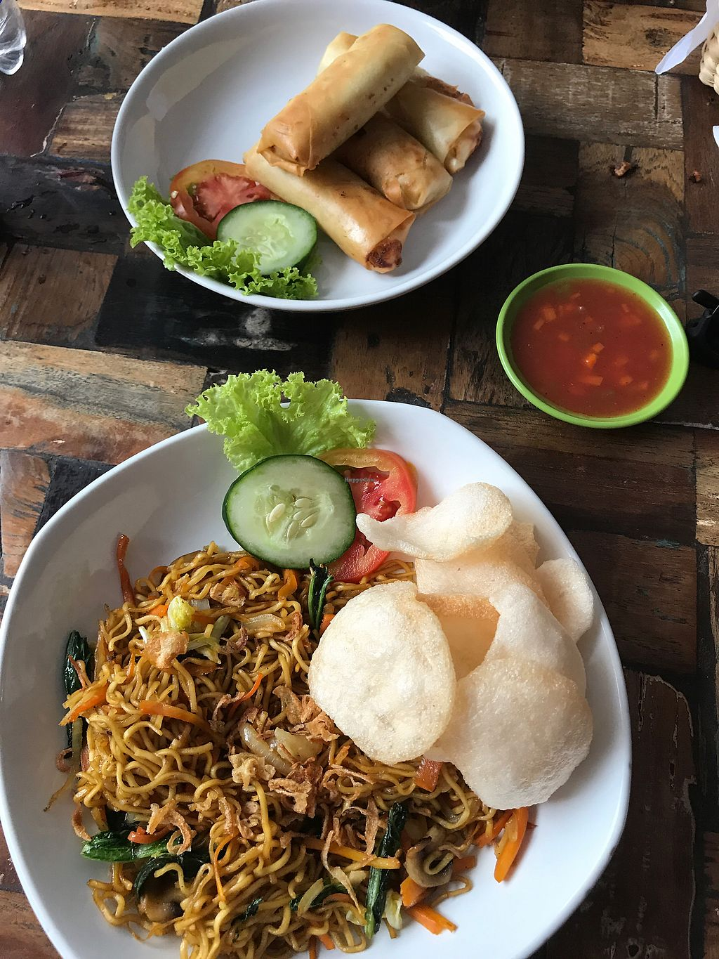 """Photo of Tasty Vegan - Poppies  by <a href=""""/members/profile/rehinathevegan"""">rehinathevegan</a> <br/>Vegan Mi Goreng and Spring Rolls <br/> November 23, 2017  - <a href='/contact/abuse/image/105682/328308'>Report</a>"""