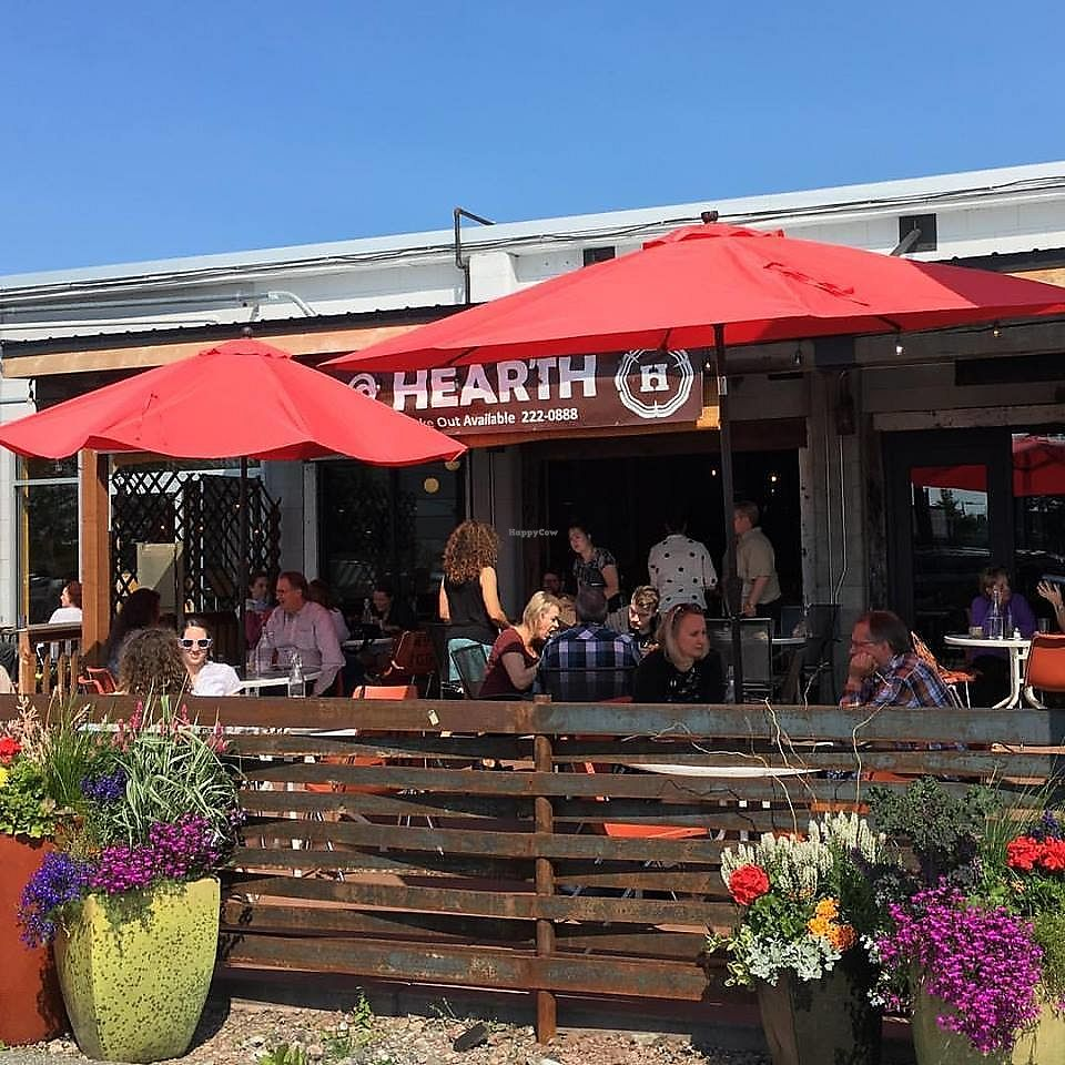 """Photo of Hearth Artisan Pizza  by <a href=""""/members/profile/ErinElizabeth907"""">ErinElizabeth907</a> <br/>Outdoor seating in the summer! <br/> November 22, 2017  - <a href='/contact/abuse/image/105683/328180'>Report</a>"""
