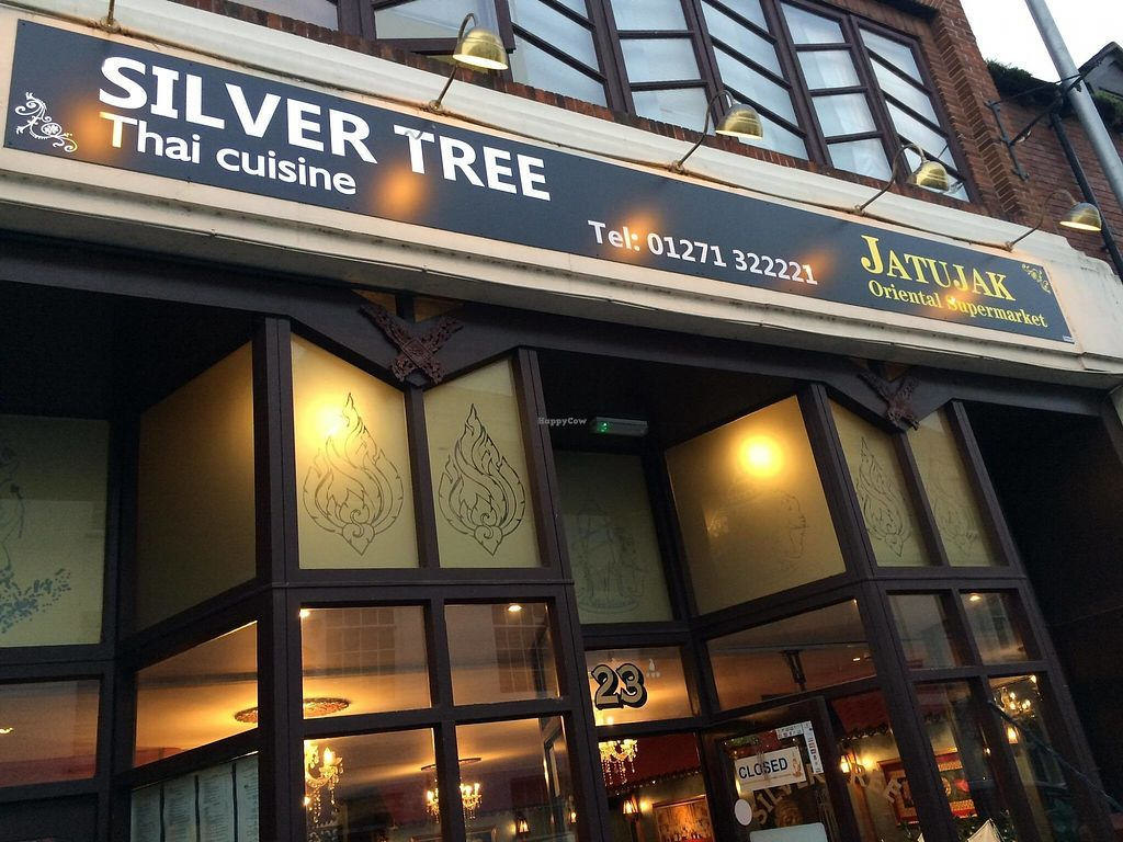 """Photo of Silver Tree Thai Restaurant  by <a href=""""/members/profile/MarkLock"""">MarkLock</a> <br/>Outside view of Silver Tree Thai Restaurant Barnstaple <br/> November 23, 2017  - <a href='/contact/abuse/image/105700/328458'>Report</a>"""