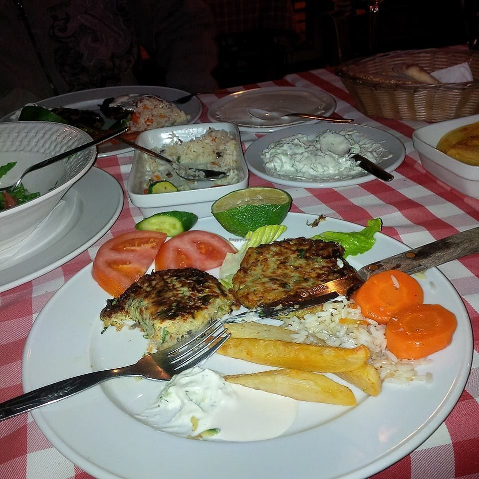 """Photo of Laterna Taverna  by <a href=""""/members/profile/damienmcbraida"""">damienmcbraida</a> <br/>Laterna's vegetarian keftedes (special order, not on the menu) <br/> January 3, 2018  - <a href='/contact/abuse/image/105707/342393'>Report</a>"""
