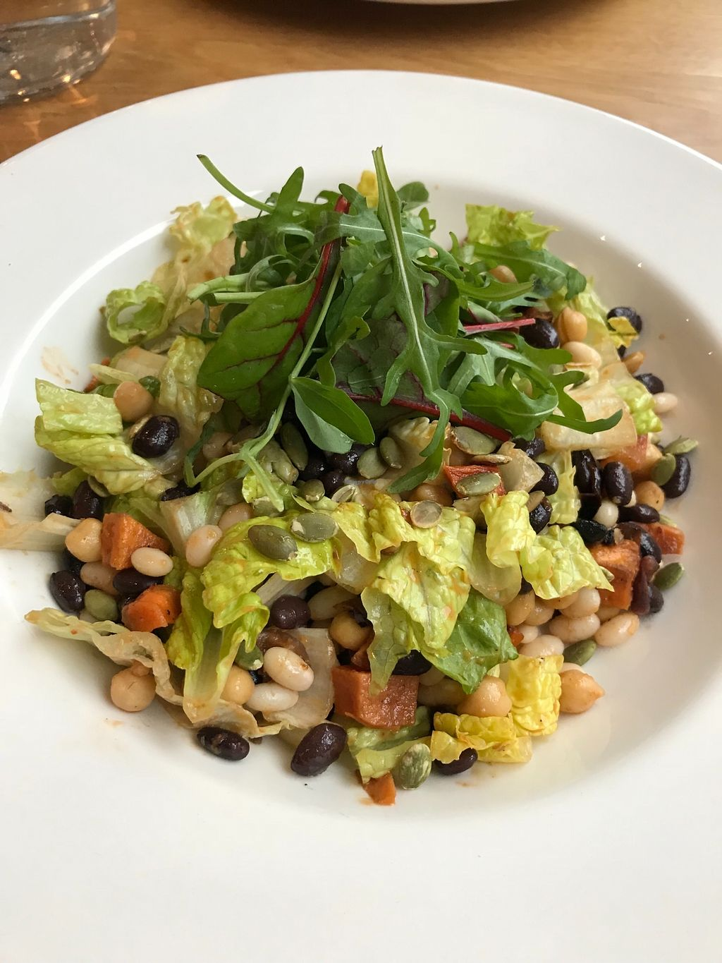 """Photo of Loudons Cafe and Bakery  by <a href=""""/members/profile/AshleighC"""">AshleighC</a> <br/>Loudons roast veg and mixed bean salad (specifically asked for it to be made vegan, if not) <br/> February 5, 2018  - <a href='/contact/abuse/image/105784/355395'>Report</a>"""