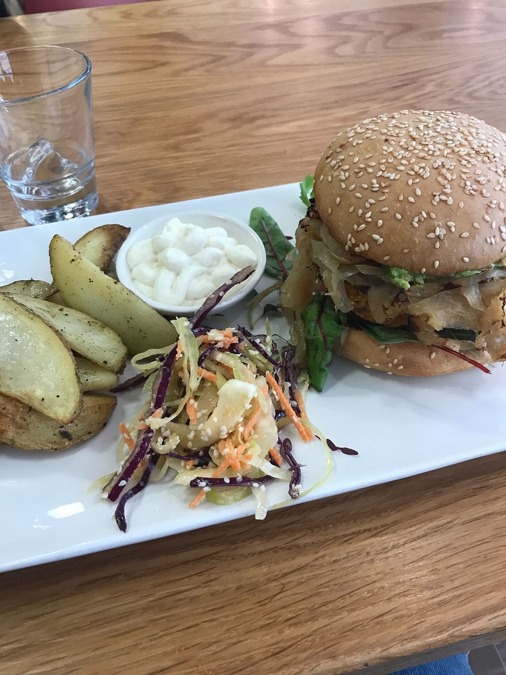 """Photo of Loudons Cafe and Bakery  by <a href=""""/members/profile/AshleighC"""">AshleighC</a> <br/>Loudons veggie burger <br/> February 5, 2018  - <a href='/contact/abuse/image/105784/355401'>Report</a>"""