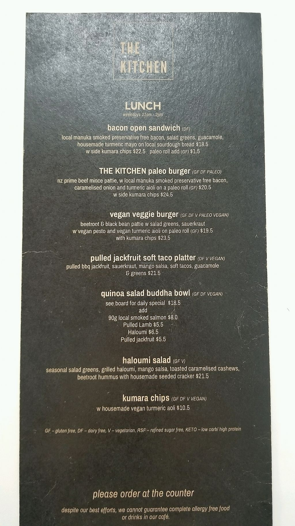 """Photo of The Kitchen  by <a href=""""/members/profile/AndyTheVWDude"""">AndyTheVWDude</a> <br/>Lunch Menu ~ April 2018 <br/> April 13, 2018  - <a href='/contact/abuse/image/105813/385286'>Report</a>"""