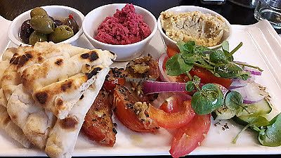 """Photo of Brizola Bar and Grill  by <a href=""""/members/profile/Veganolive1"""">Veganolive1</a> <br/>Vegan Mezze <br/> November 24, 2017  - <a href='/contact/abuse/image/105819/328829'>Report</a>"""