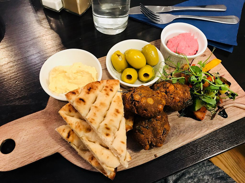 """Photo of Brizola Bar and Grill  by <a href=""""/members/profile/VickiWanSlattery"""">VickiWanSlattery</a> <br/>Vegan meze  <br/> February 18, 2018  - <a href='/contact/abuse/image/105819/360840'>Report</a>"""