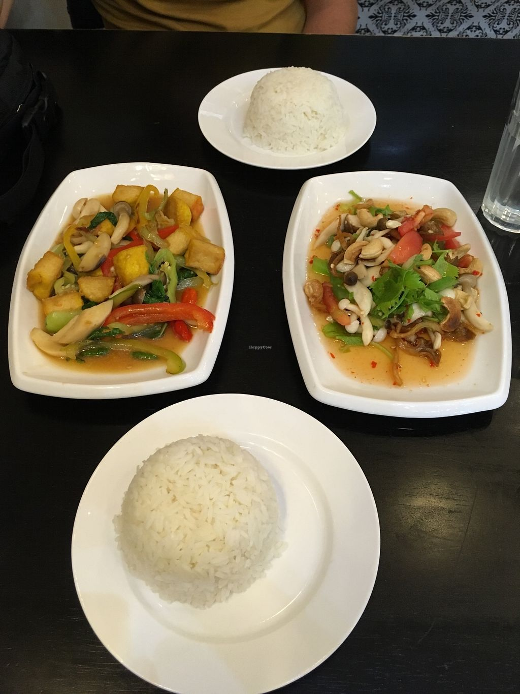 """Photo of The Plumber  by <a href=""""/members/profile/_zelisa"""">_zelisa</a> <br/>Sweet and sour veggies with tofu and green noodles with mushrooms and veggies  <br/> November 26, 2017  - <a href='/contact/abuse/image/105833/329382'>Report</a>"""