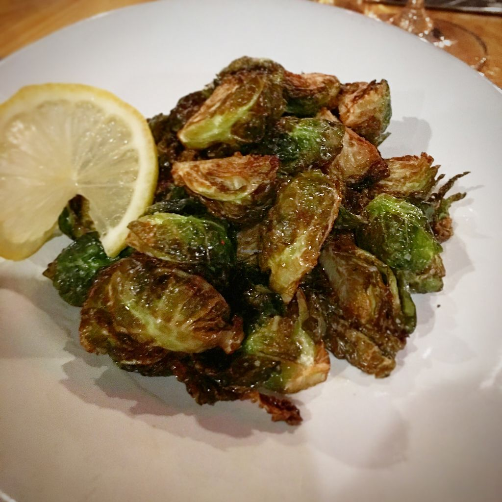 """Photo of Cocina de La Sirena  by <a href=""""/members/profile/JeffJohnson"""">JeffJohnson</a> <br/>Brussels sprouts, no aioli  <br/> November 24, 2017  - <a href='/contact/abuse/image/105837/328812'>Report</a>"""