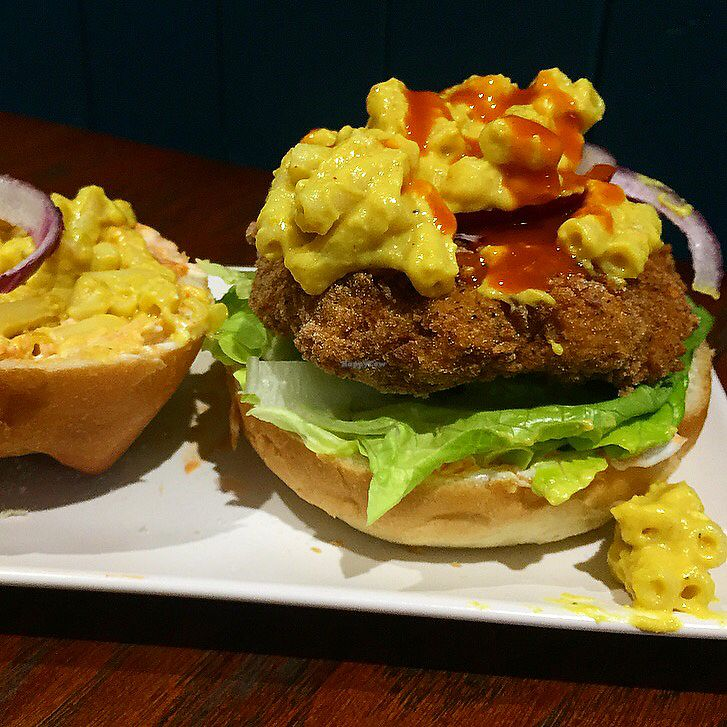 """Photo of Happy Friday Kitchen   by <a href=""""/members/profile/LaurenceWright"""">LaurenceWright</a> <br/>Mac Daddy burger  <br/> November 24, 2017  - <a href='/contact/abuse/image/105857/328816'>Report</a>"""