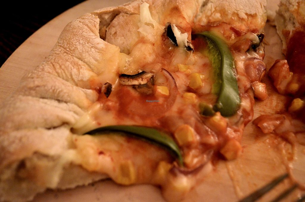 """Photo of Happy Friday Kitchen   by <a href=""""/members/profile/EllieDuncan"""">EllieDuncan</a> <br/>Notorious V.E.G stuffed crust pizza <br/> December 15, 2017  - <a href='/contact/abuse/image/105857/335739'>Report</a>"""