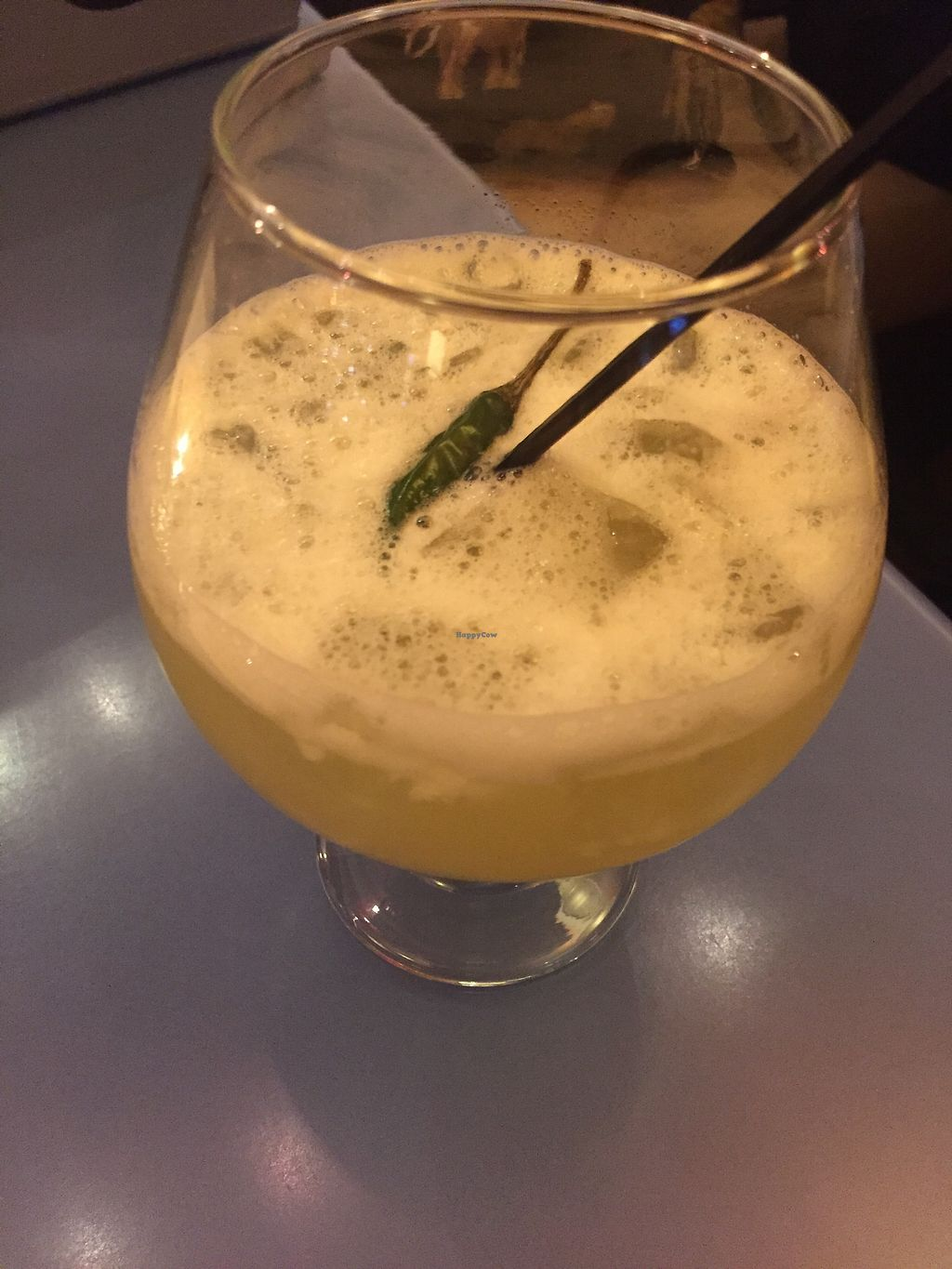 """Photo of Mia Tapas Bar & Restaurant  by <a href=""""/members/profile/KaitlynnGill"""">KaitlynnGill</a> <br/>Spicy repasado drink <br/> November 25, 2017  - <a href='/contact/abuse/image/105870/328871'>Report</a>"""