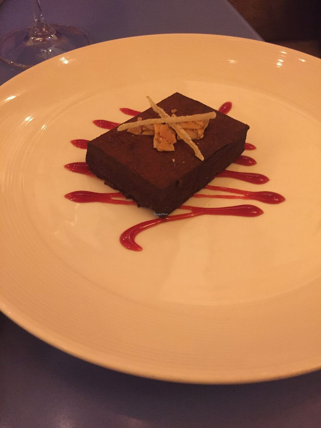 """Photo of Mia Tapas Bar & Restaurant  by <a href=""""/members/profile/KaitlynnGill"""">KaitlynnGill</a> <br/>Vegan chocolate tart <br/> November 25, 2017  - <a href='/contact/abuse/image/105870/328873'>Report</a>"""