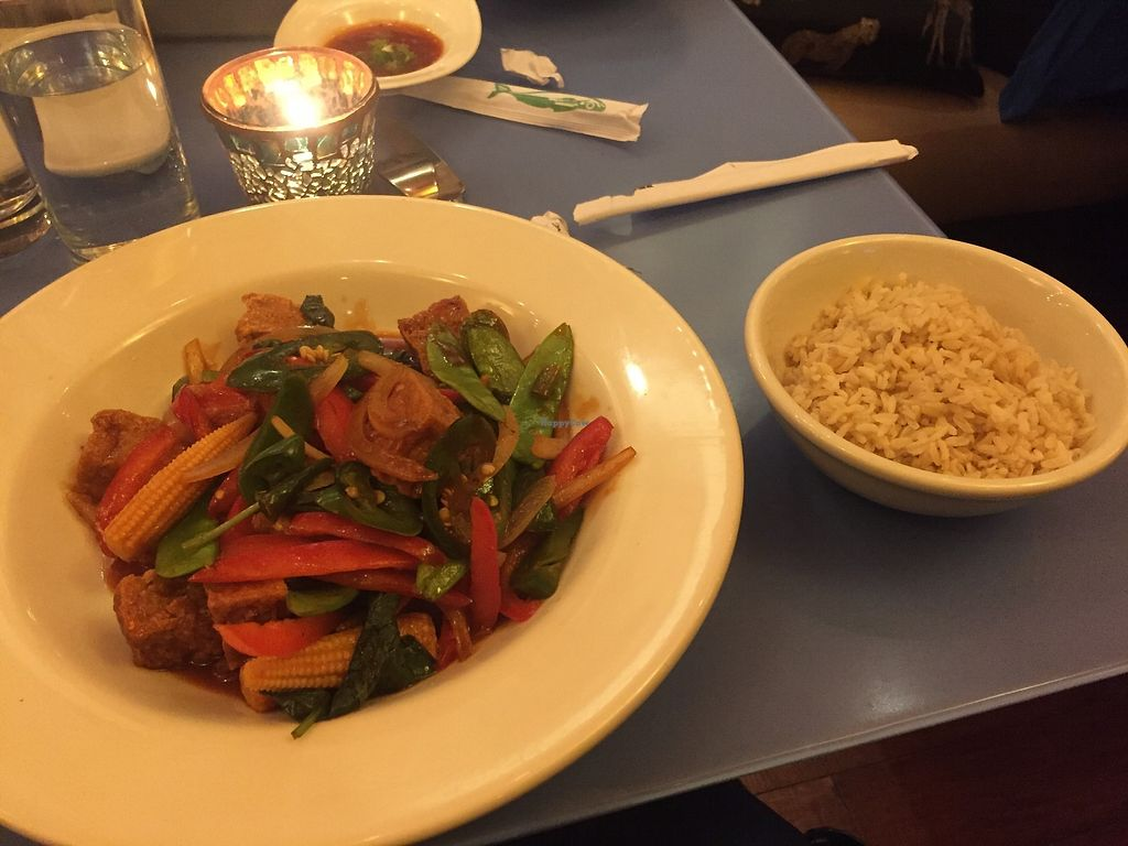 """Photo of Mia Tapas Bar & Restaurant  by <a href=""""/members/profile/KaitlynnGill"""">KaitlynnGill</a> <br/>Crispy tofu and rice <br/> November 25, 2017  - <a href='/contact/abuse/image/105870/328876'>Report</a>"""