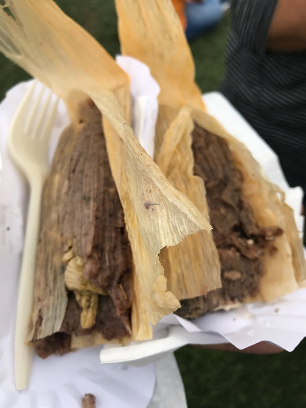 """Photo of The Vegan Tamale Company  by <a href=""""/members/profile/xmrfigx"""">xmrfigx</a> <br/>Blue corn mass tamales! <br/> November 26, 2017  - <a href='/contact/abuse/image/105916/329269'>Report</a>"""