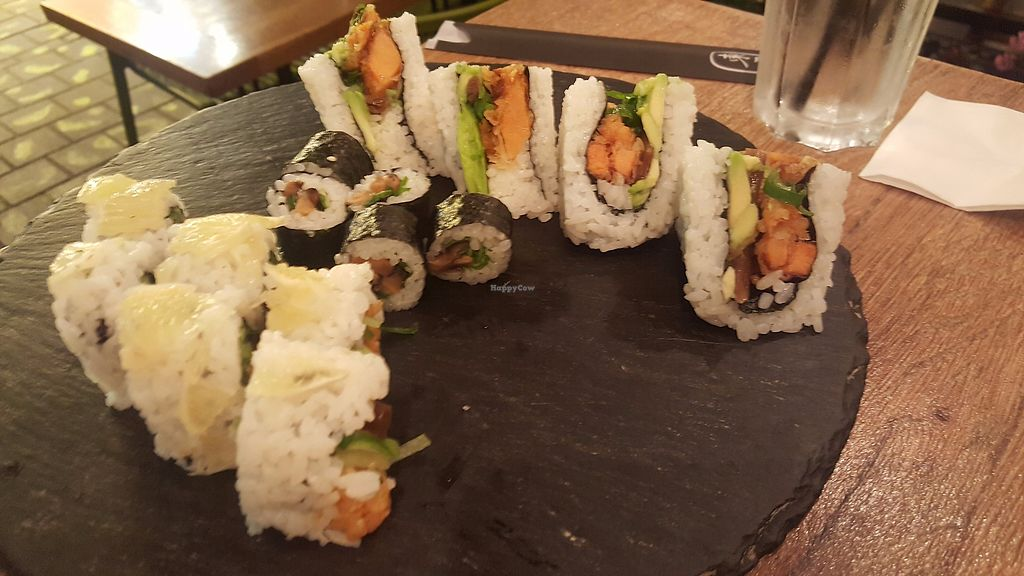 "Photo of Yan Sushi House  by <a href=""/members/profile/EinavShimoni"">EinavShimoni</a> <br/>vegan sushi combination - partly eaten <br/> November 25, 2017  - <a href='/contact/abuse/image/105918/329123'>Report</a>"