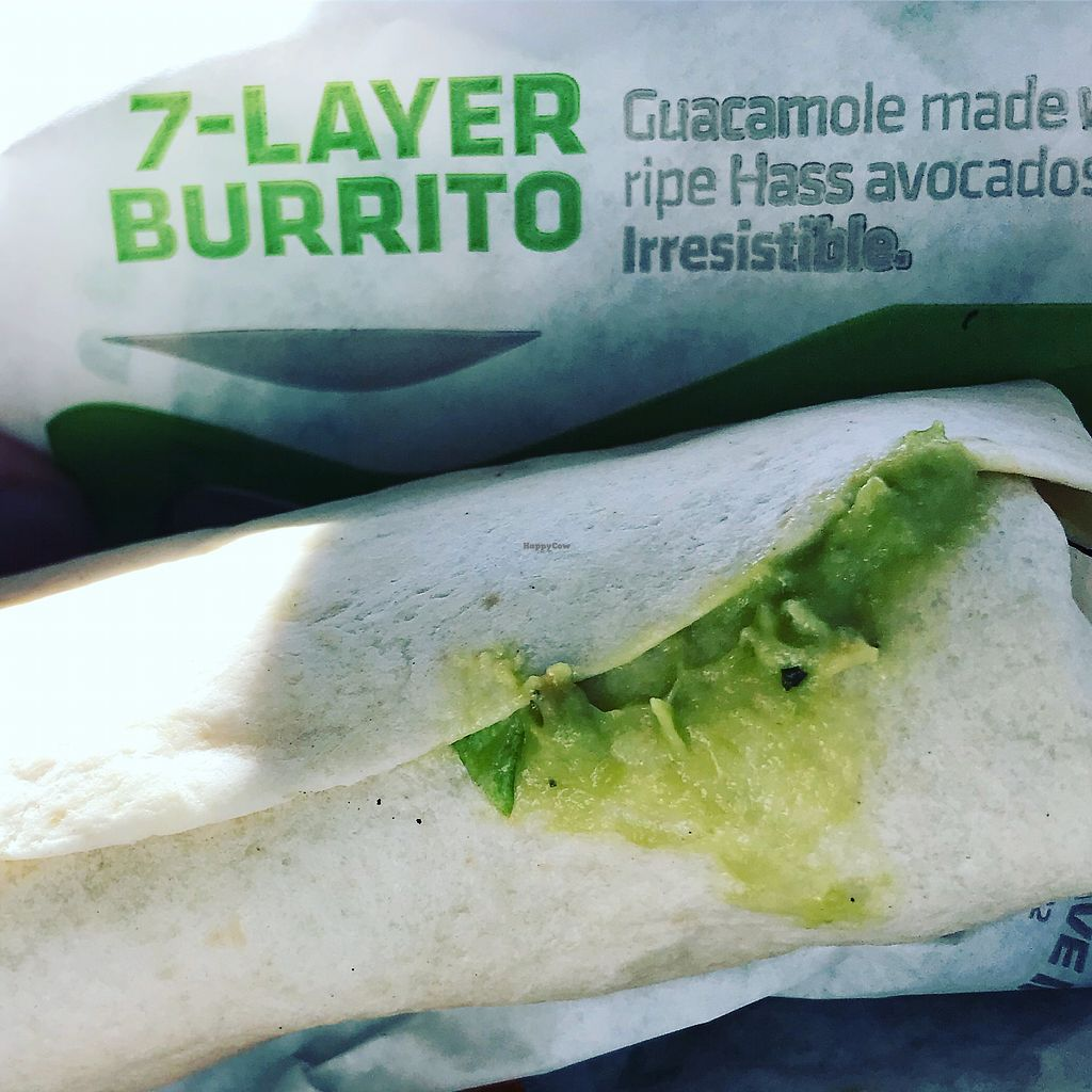 """Photo of Taco Bell  by <a href=""""/members/profile/KarenTatur"""">KarenTatur</a> <br/>7-Layer minus 2 Layers = Vegan! <br/> November 25, 2017  - <a href='/contact/abuse/image/105944/329169'>Report</a>"""