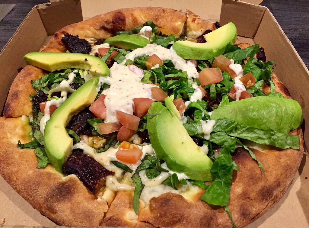 """Photo of Sage Vegan Bistro  by <a href=""""/members/profile/VeganCookieLover"""">VeganCookieLover</a> <br/>BLTA pizza <br/> January 15, 2018  - <a href='/contact/abuse/image/105953/346943'>Report</a>"""