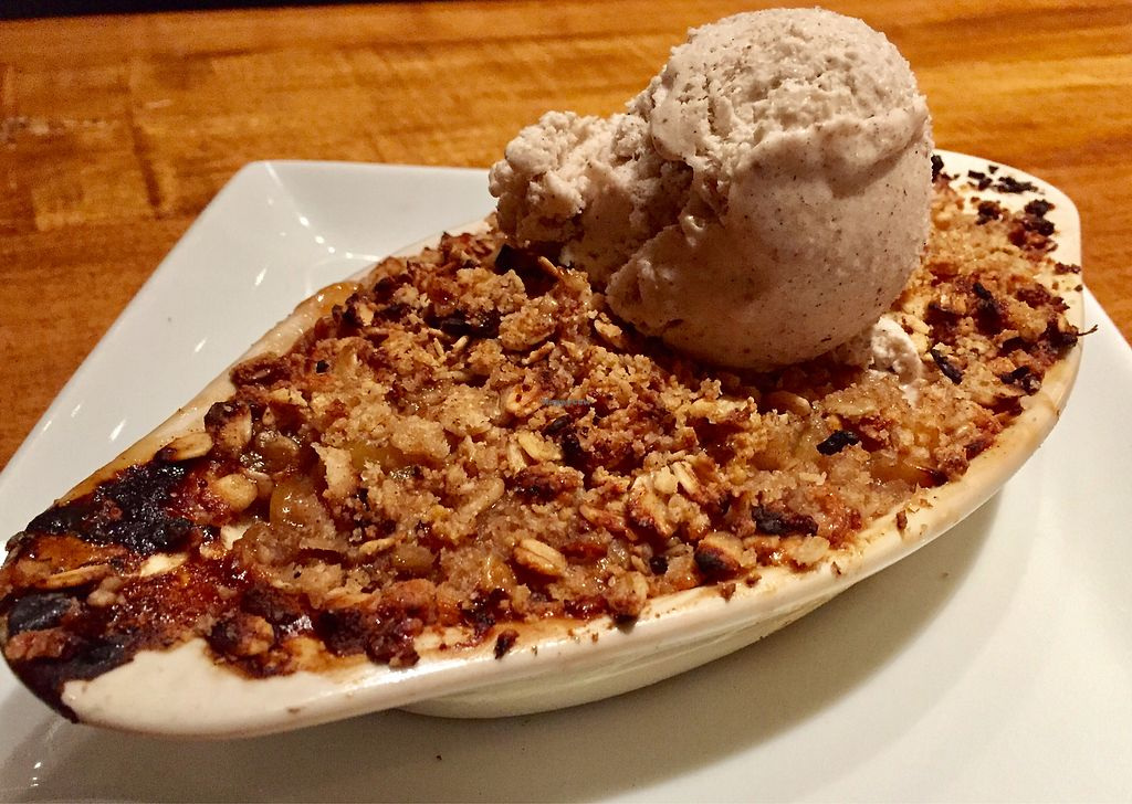 """Photo of Sage Vegan Bistro  by <a href=""""/members/profile/VeganCookieLover"""">VeganCookieLover</a> <br/>Apple cobbler a la mode <br/> January 15, 2018  - <a href='/contact/abuse/image/105953/346944'>Report</a>"""