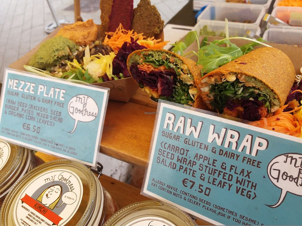 "Photo of My Goodness  by <a href=""/members/profile/TaylorNelsen"">TaylorNelsen</a> <br/>Raw wraps and mezze plate made with probiotic fermented foods at the My Goodness farmers market stall <br/> November 26, 2017  - <a href='/contact/abuse/image/105957/329341'>Report</a>"