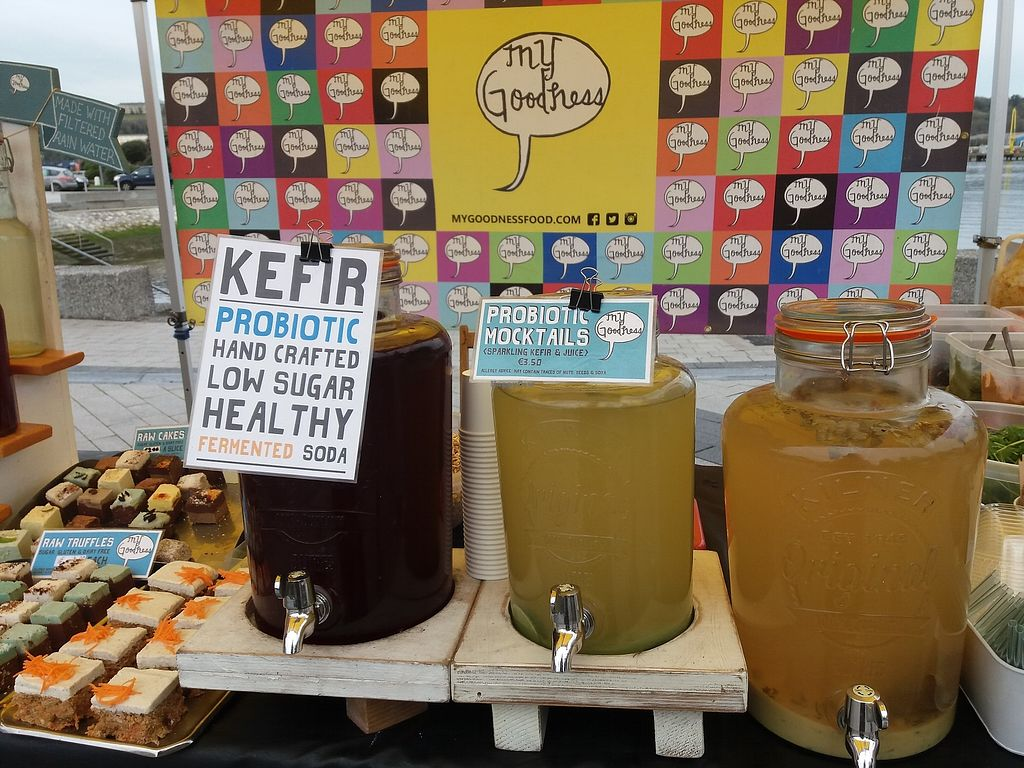 "Photo of My Goodness  by <a href=""/members/profile/TaylorNelsen"">TaylorNelsen</a> <br/>Water kefir at the (my goodness blackrock market stall. ) made with filtered rain water. Flavoured with hibiscus, mint lime cucumber, lemon ginger and orange.  <br/> November 26, 2017  - <a href='/contact/abuse/image/105957/329343'>Report</a>"