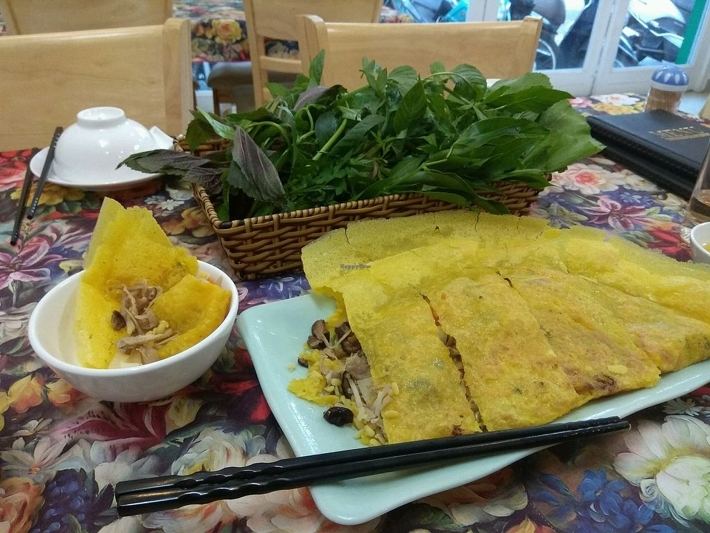 "Photo of Lien Huong Vegetarian Restaurant  by <a href=""/members/profile/TayaMoiseeva"">TayaMoiseeva</a> <br/>banh xeo (vietnamese pancake) <br/> January 8, 2018  - <a href='/contact/abuse/image/105976/344292'>Report</a>"