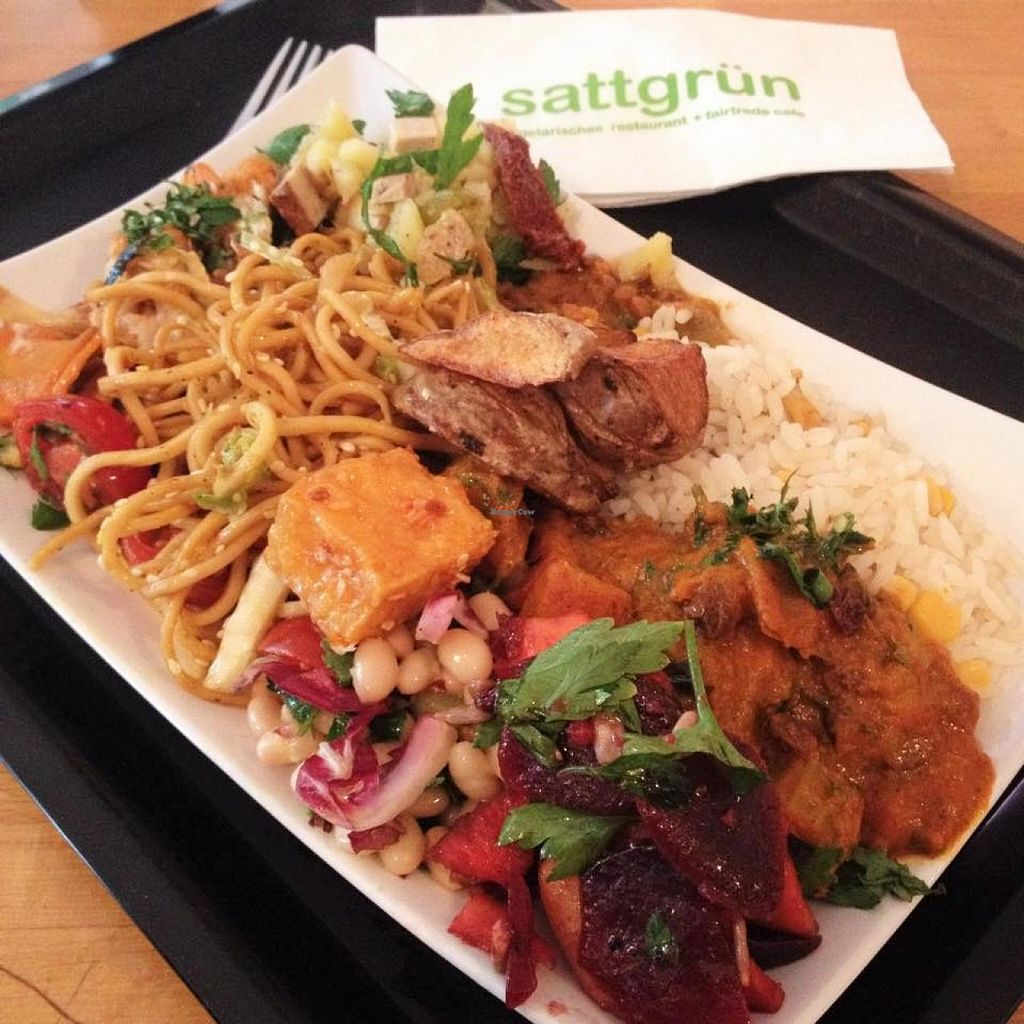 "Photo of Sattgruen - Mitte  by <a href=""/members/profile/Valises%20Gourmandises"">Valises Gourmandises</a> <br/>So much goodness in one plate <br/> July 5, 2015  - <a href='/contact/abuse/image/10598/108226'>Report</a>"