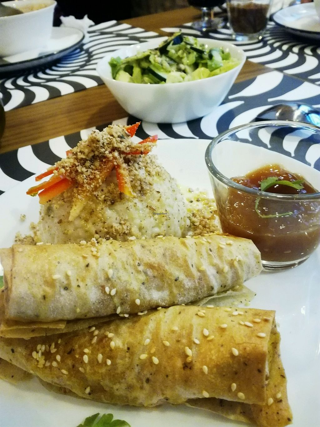 "Photo of Bananas Veggie & Raw Cuisine  by <a href=""/members/profile/MajaBranovacki"">MajaBranovacki</a> <br/>Spring rolls in sweet and sour sauce <br/> November 27, 2017  - <a href='/contact/abuse/image/105991/329740'>Report</a>"