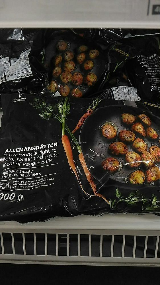 """Photo of IKEA  by <a href=""""/members/profile/QuothTheRaven"""">QuothTheRaven</a> <br/>You can purchase the veggie balls frozen in their food section <br/> November 27, 2017  - <a href='/contact/abuse/image/105992/329785'>Report</a>"""
