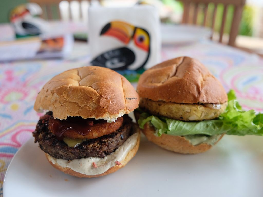 """Photo of Paraty EcoHostel e Restaurante Vegano  by <a href=""""/members/profile/HaileyPoLa"""">HaileyPoLa</a> <br/>Palmito burger and BBQ burger  <br/> December 30, 2017  - <a href='/contact/abuse/image/106009/340745'>Report</a>"""