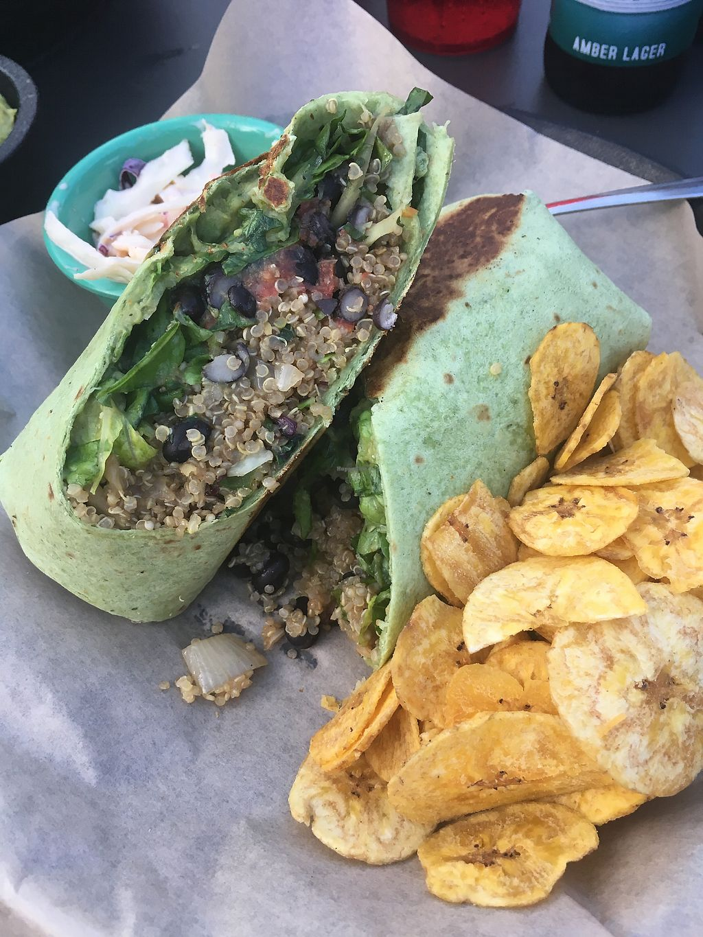 """Photo of The Tiny Turtle  by <a href=""""/members/profile/Mariarosekicks"""">Mariarosekicks</a> <br/>Quinoa wrap with no crema  <br/> November 27, 2017  - <a href='/contact/abuse/image/106038/329726'>Report</a>"""