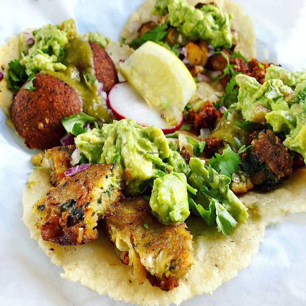 "Photo of Ixtaco Taqueria  by <a href=""/members/profile/josephsuar"">josephsuar</a> <br/>Vegan tacos! So delicious  <br/> April 11, 2018  - <a href='/contact/abuse/image/106045/383622'>Report</a>"