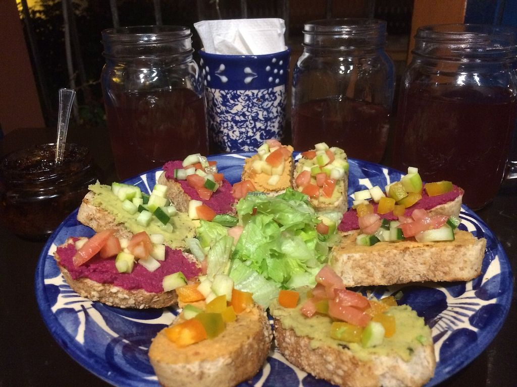 """Photo of Aguamiel Cafe   by <a href=""""/members/profile/Stefanny"""">Stefanny</a> <br/>Fruit and veg hummus tapas <br/> December 12, 2017  - <a href='/contact/abuse/image/106076/334800'>Report</a>"""