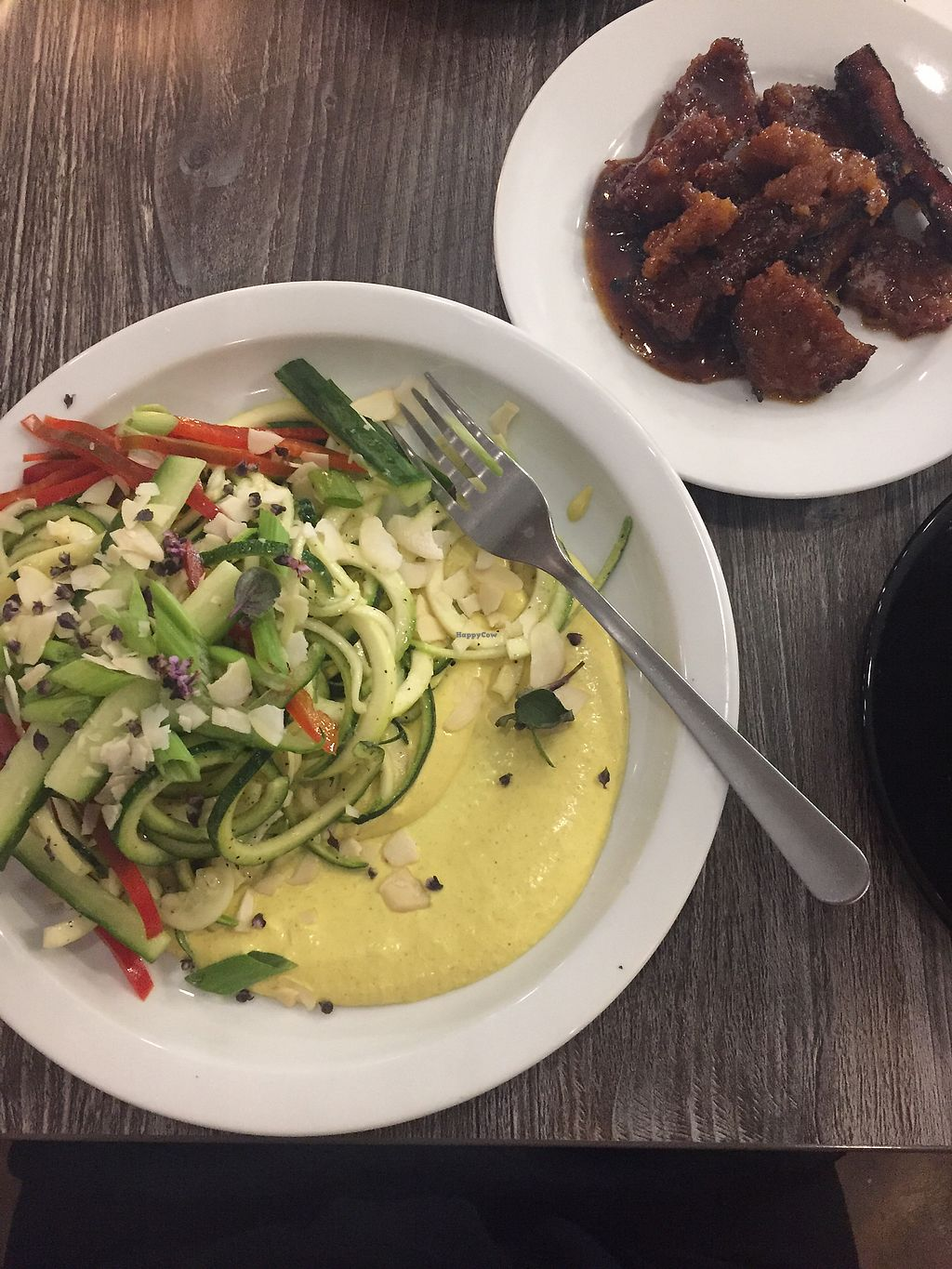"""Photo of Fox & Fig  by <a href=""""/members/profile/mindhy"""">mindhy</a> <br/>Coconut curry noodle salad and seitan <br/> January 18, 2018  - <a href='/contact/abuse/image/106084/348040'>Report</a>"""