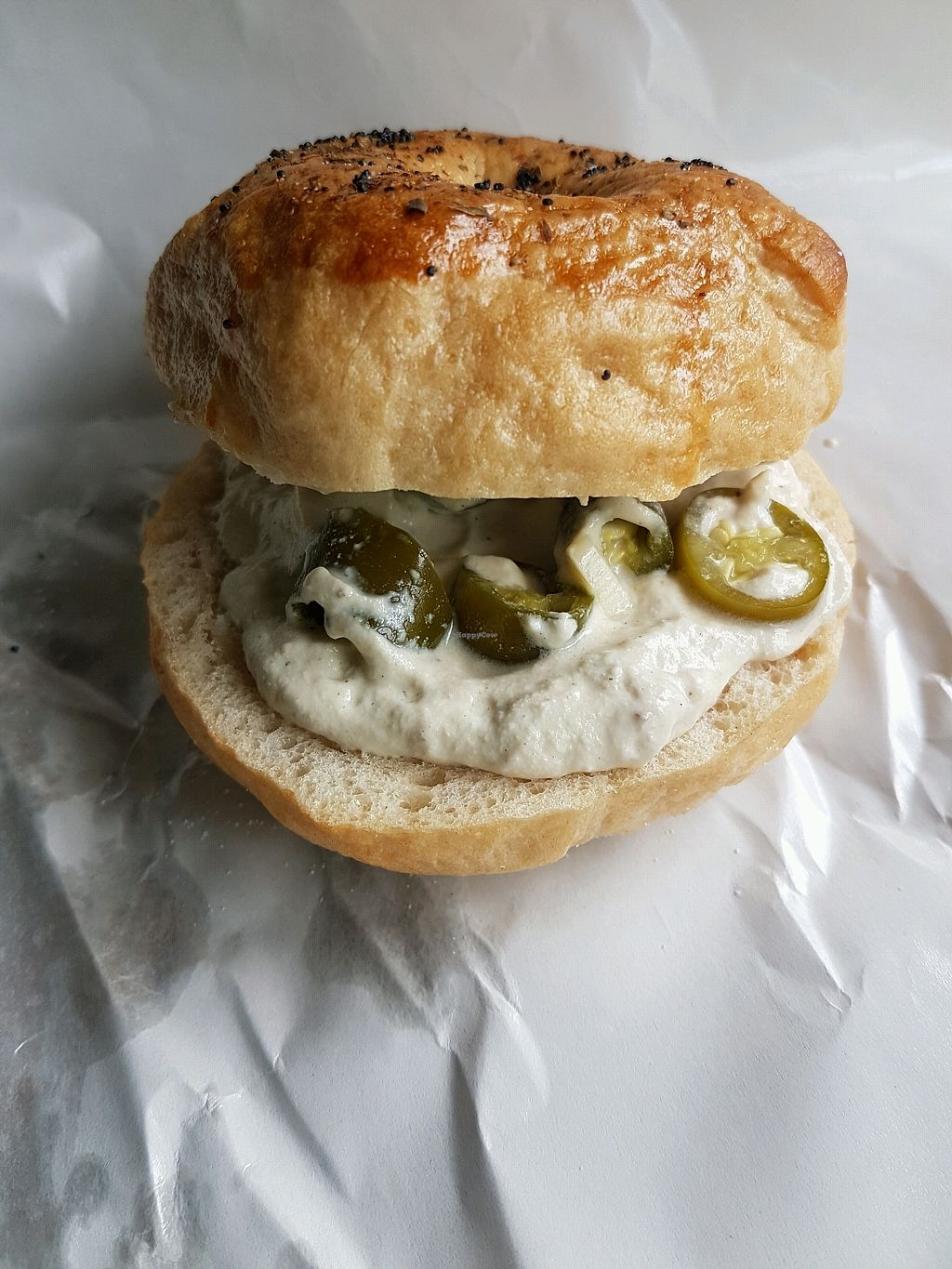 "Photo of Aleena - Food Stall  by <a href=""/members/profile/ZuzannaChronowska"">ZuzannaChronowska</a> <br/>Bagel with cashew cream cheese and pickled chili pepper <br/> November 29, 2017  - <a href='/contact/abuse/image/106128/330324'>Report</a>"