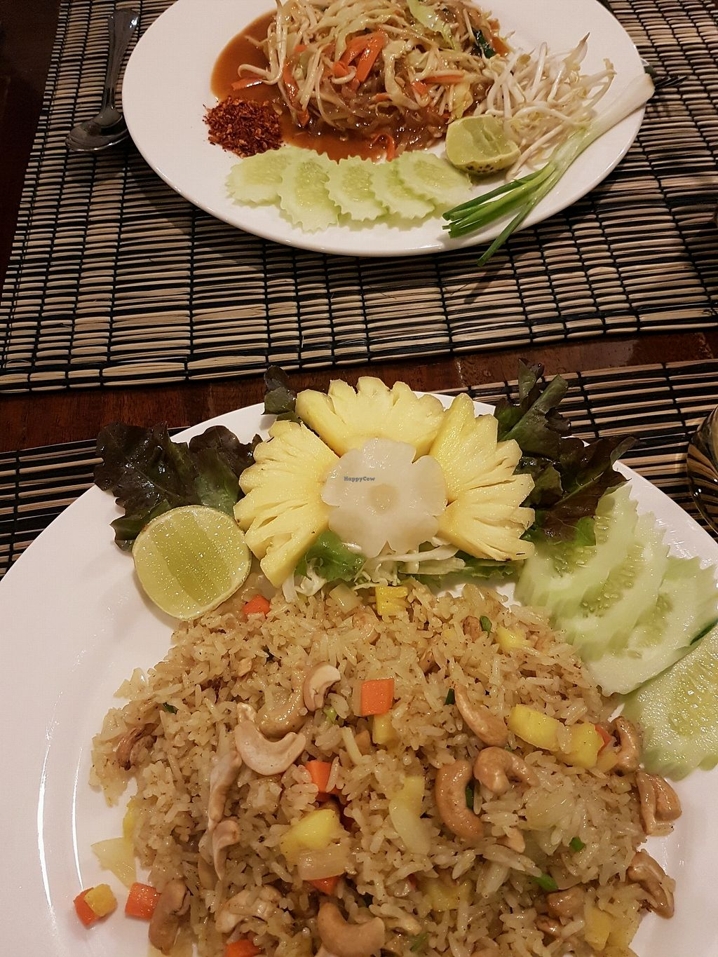 """Photo of Pailay  by <a href=""""/members/profile/ZuzannaChronowska"""">ZuzannaChronowska</a> <br/>Fried rice with cashews and pineapple + vegan pad thai  <br/> November 29, 2017  - <a href='/contact/abuse/image/106139/330304'>Report</a>"""