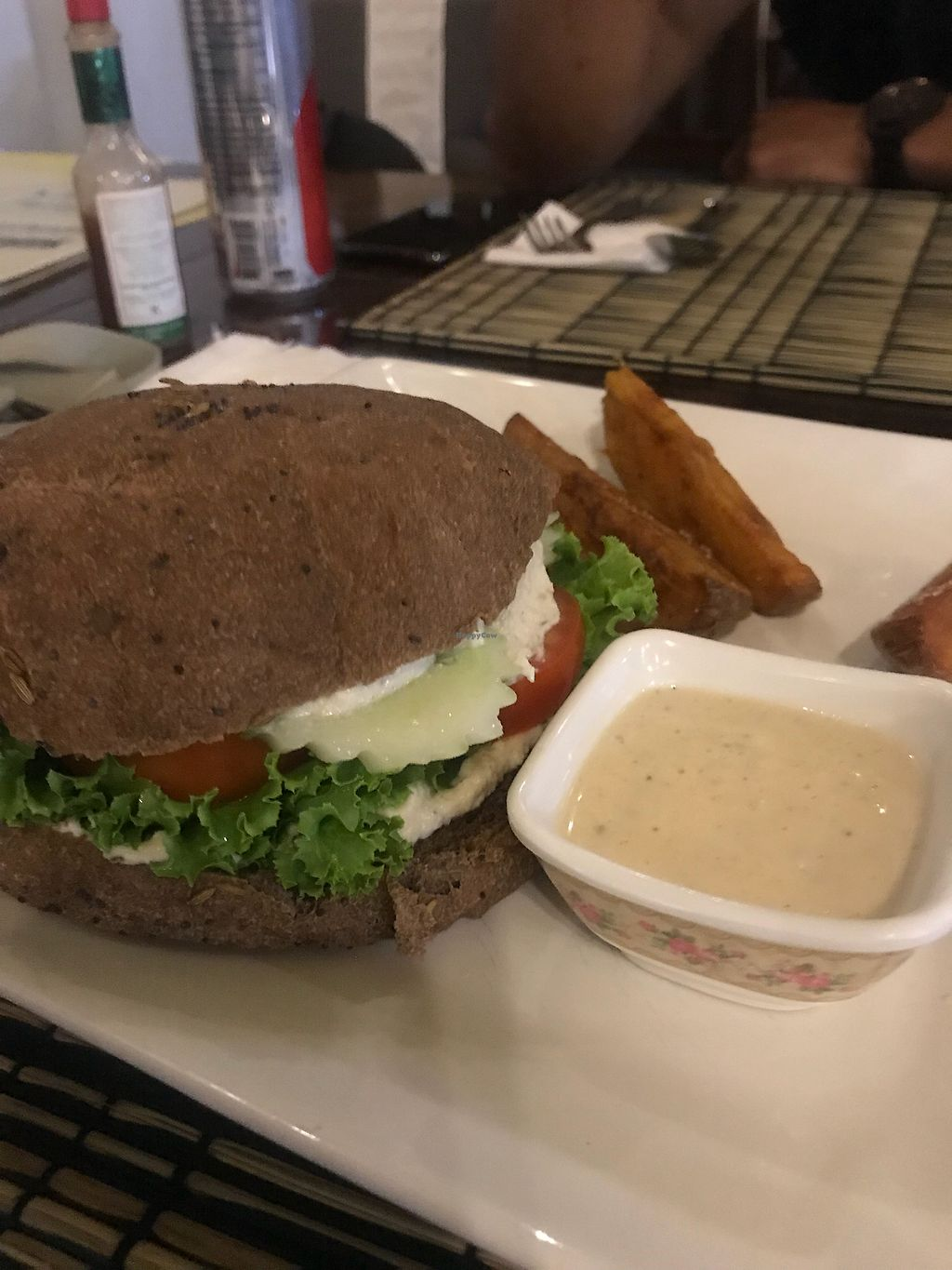 """Photo of Pailay  by <a href=""""/members/profile/mbrewer1127"""">mbrewer1127</a> <br/>Rye bread sandwich with vegan cream cheese  <br/> February 23, 2018  - <a href='/contact/abuse/image/106139/362773'>Report</a>"""