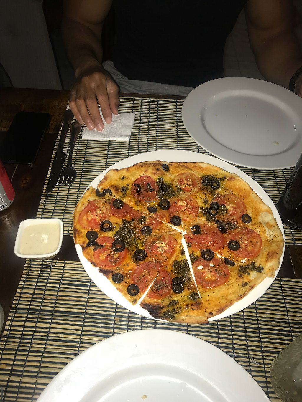 """Photo of Pailay  by <a href=""""/members/profile/mbrewer1127"""">mbrewer1127</a> <br/>Delicious vegan pesto pizza <br/> February 23, 2018  - <a href='/contact/abuse/image/106139/362775'>Report</a>"""