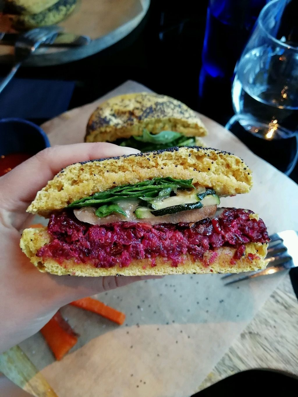 """Photo of Wild Food  by <a href=""""/members/profile/Marieke95"""">Marieke95</a> <br/>Wild burger with sweet potatoes (optional: gluten free) <br/> April 13, 2018  - <a href='/contact/abuse/image/106140/385329'>Report</a>"""