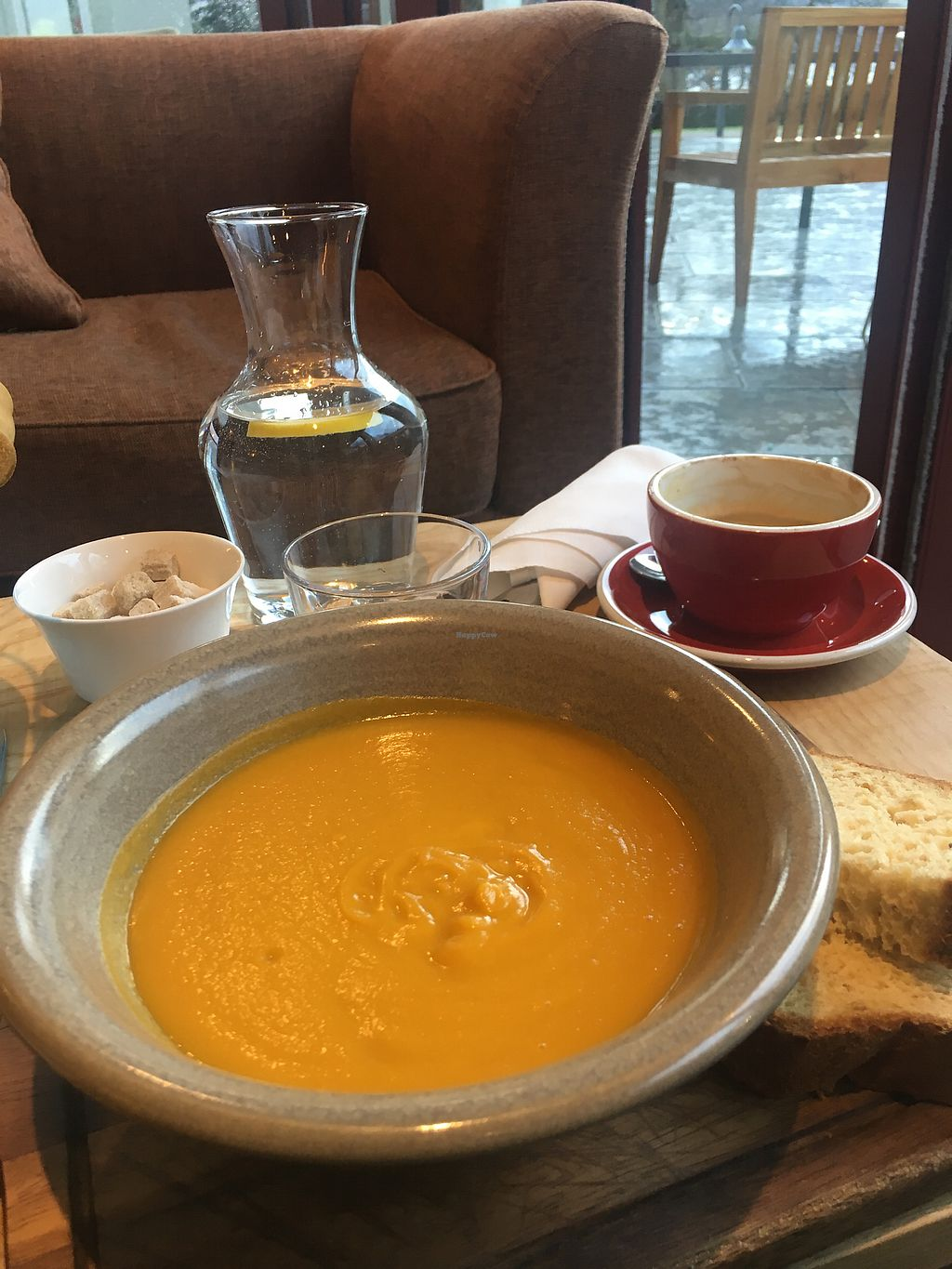 """Photo of Ramsbeck - Another Place Hotel  by <a href=""""/members/profile/Annebumble"""">Annebumble</a> <br/>Vegan soup  <br/> January 2, 2018  - <a href='/contact/abuse/image/106150/342157'>Report</a>"""