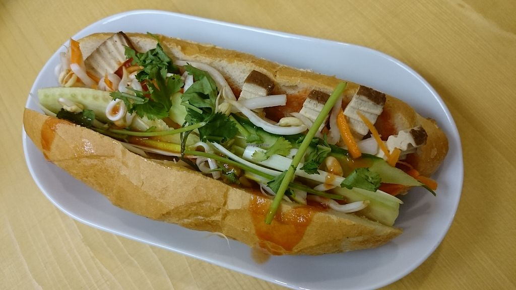 """Photo of NhaBe Vietnamese Bistro  by <a href=""""/members/profile/MarcusVegan"""">MarcusVegan</a> <br/>Bahn Mi s tofu <br/> November 28, 2017  - <a href='/contact/abuse/image/106169/330243'>Report</a>"""