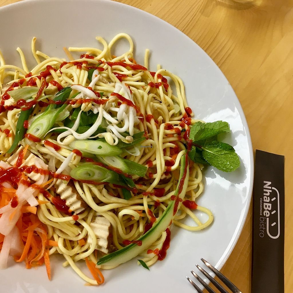 """Photo of NhaBe Vietnamese Bistro  by <a href=""""/members/profile/Romain"""">Romain</a> <br/>Noodle dish <br/> November 28, 2017  - <a href='/contact/abuse/image/106169/330244'>Report</a>"""