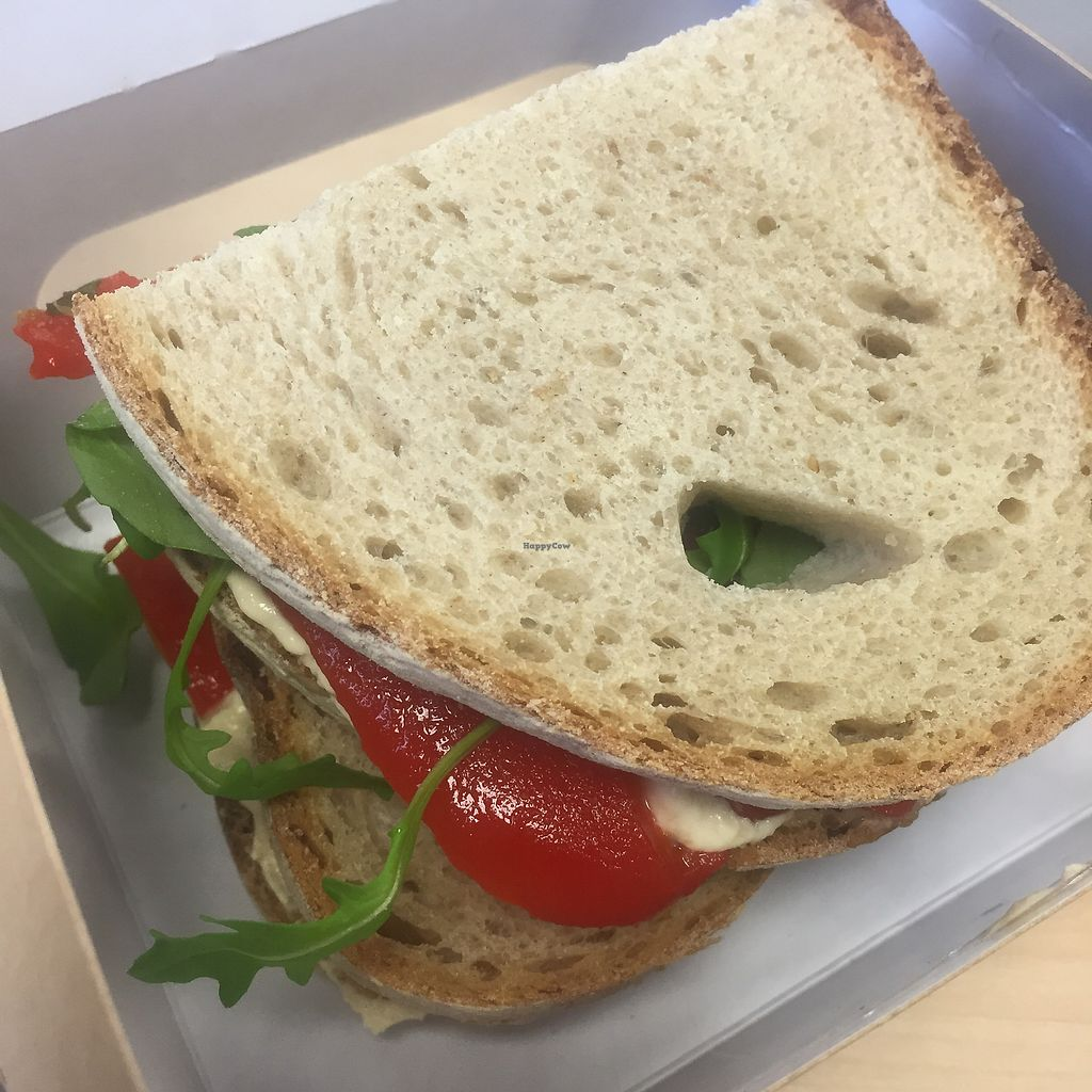 "Photo of Kalm Kitchen Cafe  by <a href=""/members/profile/bakeydoesntbake"">bakeydoesntbake</a> <br/>Vegan sandwich option - Hummus, roasted red pepper & rocket <br/> January 14, 2018  - <a href='/contact/abuse/image/106176/346697'>Report</a>"