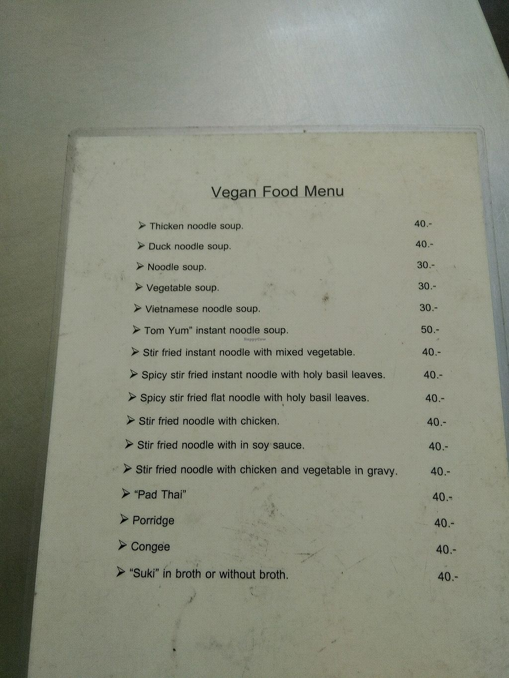 """Photo of Vegetarian - Khuanthani Rd  by <a href=""""/members/profile/Michas"""">Michas</a> <br/>Menus  <br/> December 23, 2017  - <a href='/contact/abuse/image/106210/338277'>Report</a>"""
